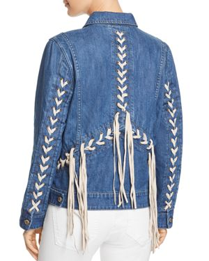 LACE-UP DENIM JACKET - 100% EXCLUSIVE