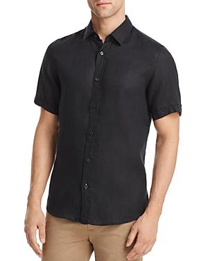Boss Luka Linen Regular Fit Button-Down Shirt