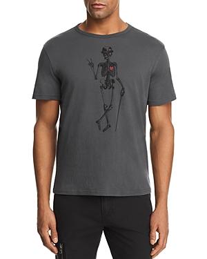 John Varvatos Star Usa Skeleton Peace Graphic Tee