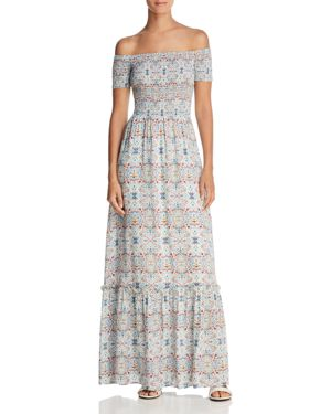 COOPER & ELLA SENNA OFF-THE-SHOULDER MAXI DRESS