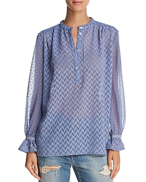 French Connection Corsica Geometric Pattern Shirt