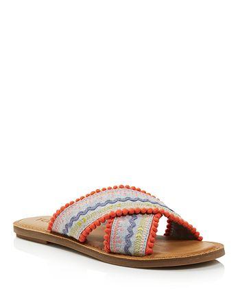 5b68e4bf1 TOMS - Women s Viv Woven Slide Sandals - 100% Exclusive