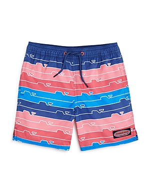 Vineyard Vines Boys Striped WhalePrint Swim Trunks  Little Kid Big Kid