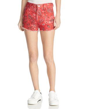 Iro. jeans Omiandato Bandana Shorts