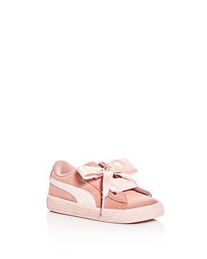 Puma Girls' Heart Jewel Suede Lace Up Sneakers - Walker, Toddler
