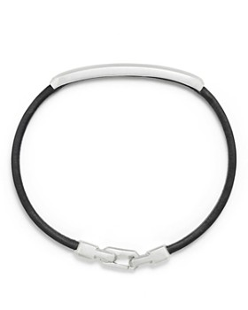 David Yurman - Pavé Leather ID Bracelet with Black Diamonds