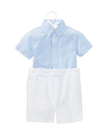 ce1bf2f1e Ralph Lauren Boys  Poplin Shirt   Seersucker Shorts Set - Baby ...