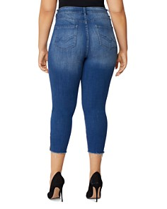 Rebel Wilson x Angels Plus - Icon Zip-Cuff Cropped Jeans in Laurel