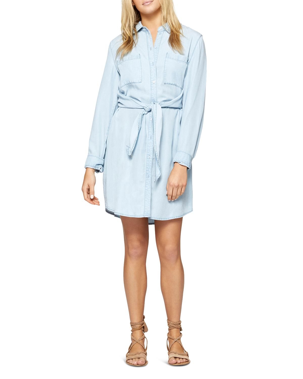 Tali Tie Waist Chambray Shirt Dress   100% Exclusive by Sanctuary