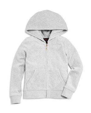 Juicy Couture Black Label Girls' Velour Scottie Robertson Glitter Jacket - Big Kid