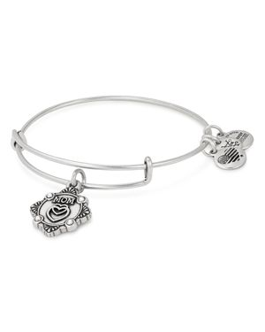 ALEX AND ANI Because I Love You Mom Bracelet in Silver