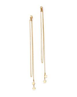 Moon & Meadow - Star Chain Drop Earrings in 14K Yellow Gold - 100% Exclusive