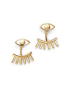 Moon & Meadow - Eye & Lash Ear Jackets in 14K Yellow Gold - 100% Exclusive