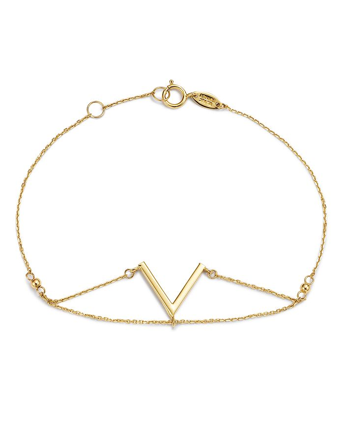 Moon & Meadow - V Chain Bracelet in 14K Yellow Gold - 100% Exclusive