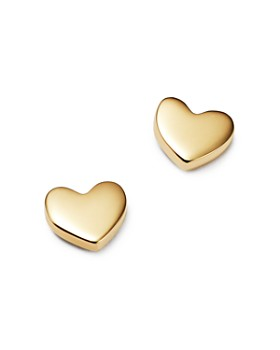 Moon & Meadow - Heart Stud Earrings in 14K Yellow Gold - 100% Exclusive