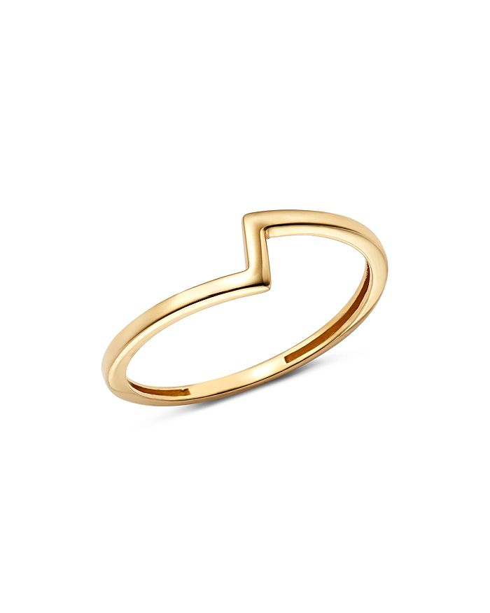Moon & Meadow - Asymmetric Band Ring in 14K Yellow Gold - 100% Exclusive