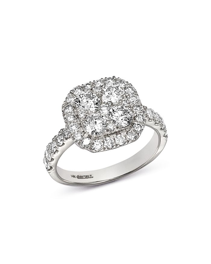 Bloomingdale's - Diamond Cluster Ring in 14K White Gold, 1.95 ct. t.w. - 100% Exclusive