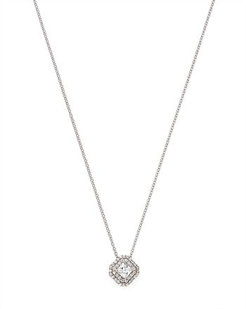 Bloomingdale's - Diamond Halo Pendant Necklace in 14K White Gold, 0.40 ct. t.w. - 100% Exclusive