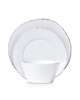 VIETRI - Melamine Lastra White Dinnerware