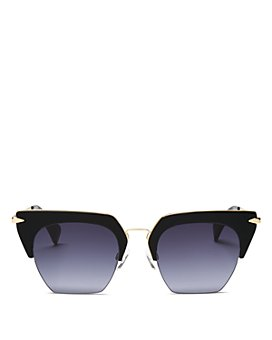 rag & bone - Women's 1007 Gradient Rimless Geometric Sunglasses, 51mm