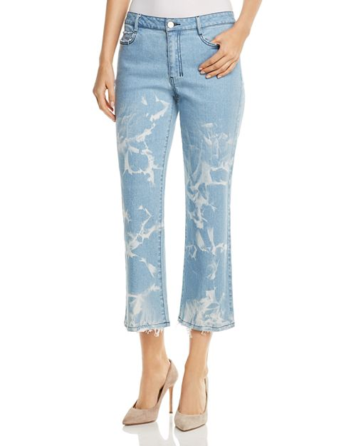 Donna Karan - Faded Cropped Flare Jeans in Retro Mid Rinse