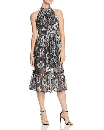 MICHAEL Michael Kors - Metallic Floral-Print Midi Dress