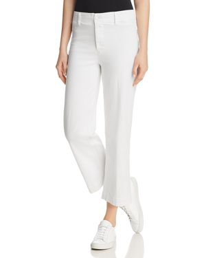 Paige Clean-Front Nellie Jeans in Crisp White 2879915