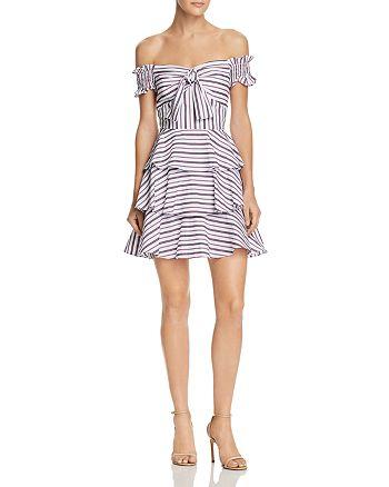 Lucy Paris - Gemma Off-the-Shoulder Striped Dress - 100% Exclusive