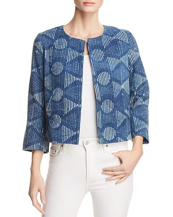 Eileen Fisher - Organic Cotton Cropped Jacket