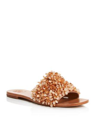 Logan Embellished Slide Sandals