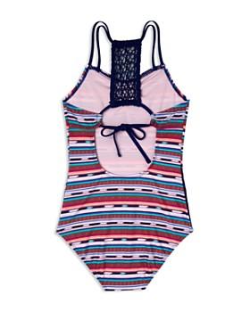 Gossip Girl - Girls' Desert Stripe Swimsuit - Big Kid