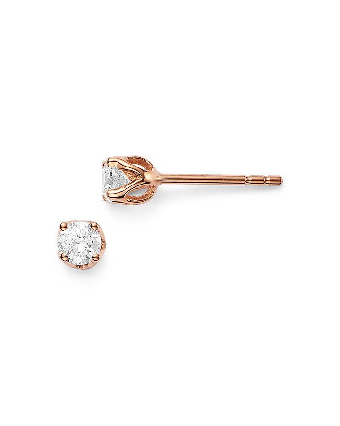 Bloomingdale's DIAMOND TULIP STUD EARRINGS IN 14K ROSE GOLD, 0.33 CT. T.W. - 100% EXCLUSIVE