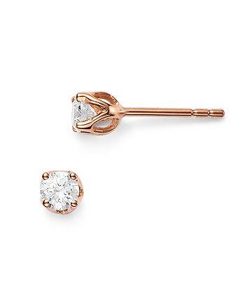 Bloomingdale's - Diamond Tulip Stud Earrings in 14K Rose Gold, 0.50 ct. t.w - 100% Exclusive