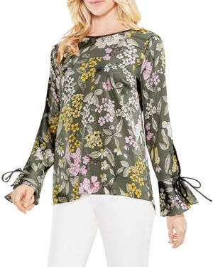 COUNTRY FLORAL BELL CUFF BLOUSE