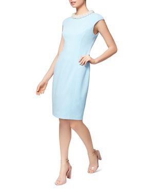 BETSEY JOHNSON IMITATION-PEARL-COLLAR SHEATH DRESS
