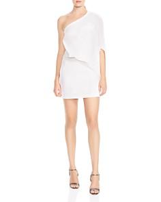 HALSTON HERITAGE - One-Shoulder Asymmetric Dress