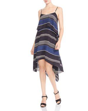 Halston Heritage Striped A-Line Dress 2881760