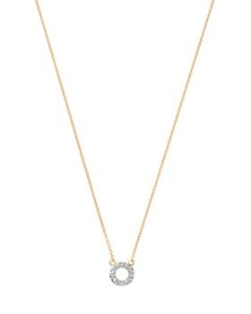 """MATEO - 14K Yellow Gold Diamond Mini Circle Necklace, 16"""""""