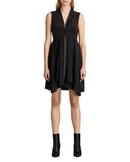 ALLSAINTS -  Jayda Zip-Front Silk Dress