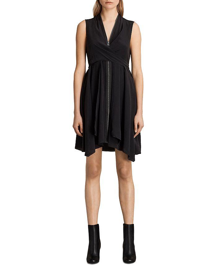 d781df46d04 ALLSAINTS - Jayda Zip-Front Silk Dress