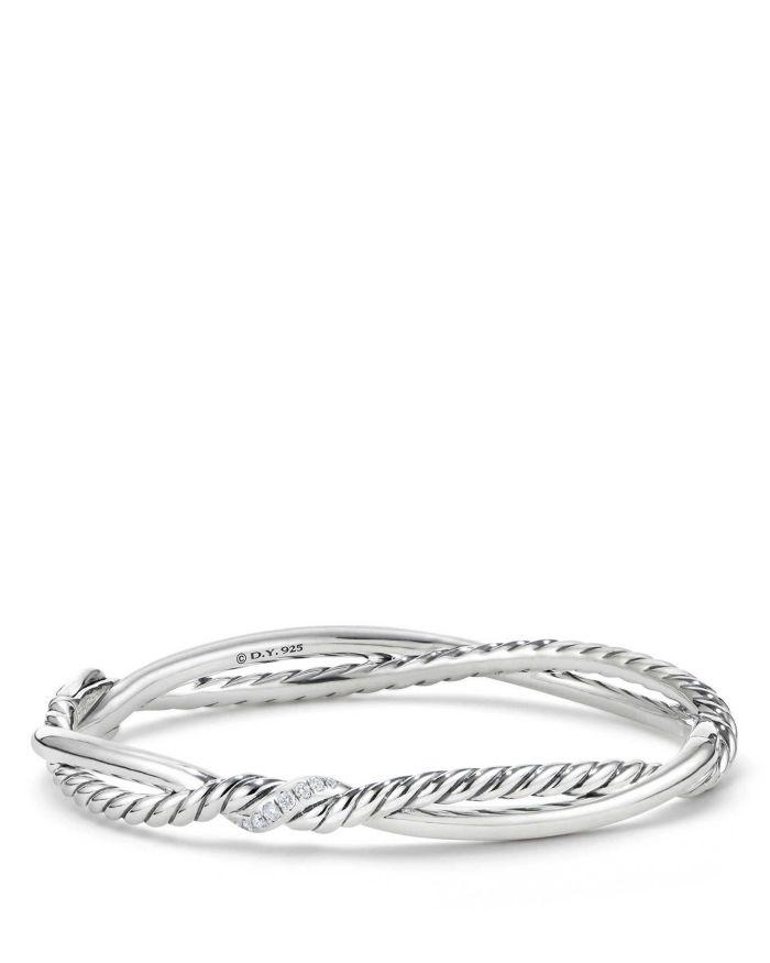 David Yurman Continuance Small Station Bracelet with Diamonds    Bloomingdale's