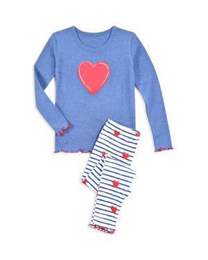 Sara's Prints Girls' Heart Pajama Shirt & Pants Set - Little Kid 2888545