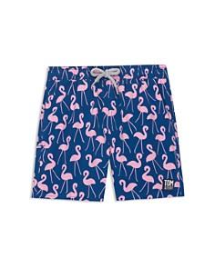 TOM & TEDDY - Boys' Flamingo Swim Trunks - Little Kid, Big Kid