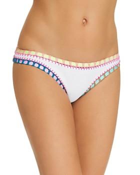 Platinum inspired by Solange Ferrarini - Crochet Trim Scoop Bikini Bottom