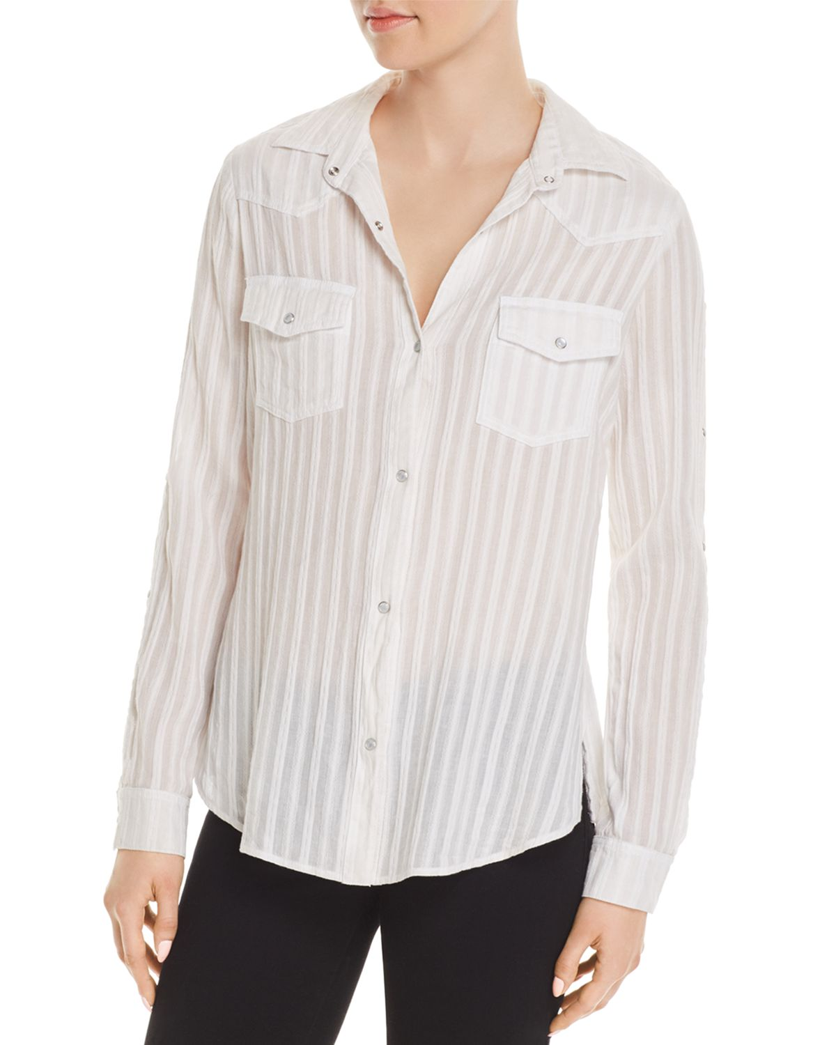 Stampede Shirt in White. - size S (also in XS) Bailey 44