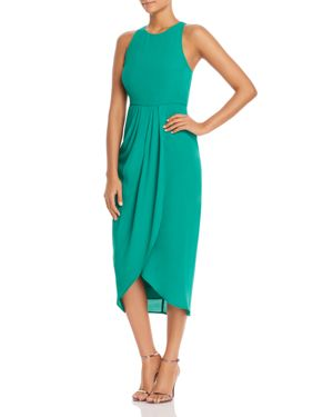 SO SOCIAL TULIP-HEM MIDI DRESS