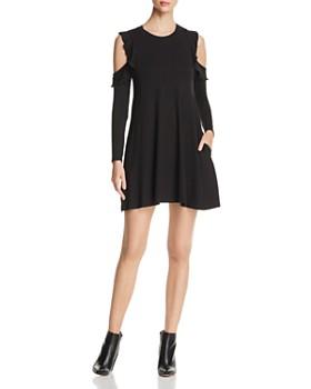 Elan - Cold-Shoulder Ruffle Dress