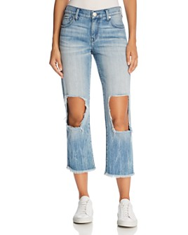 True Religion - Star Crop Straight Jeans in Second Quarter