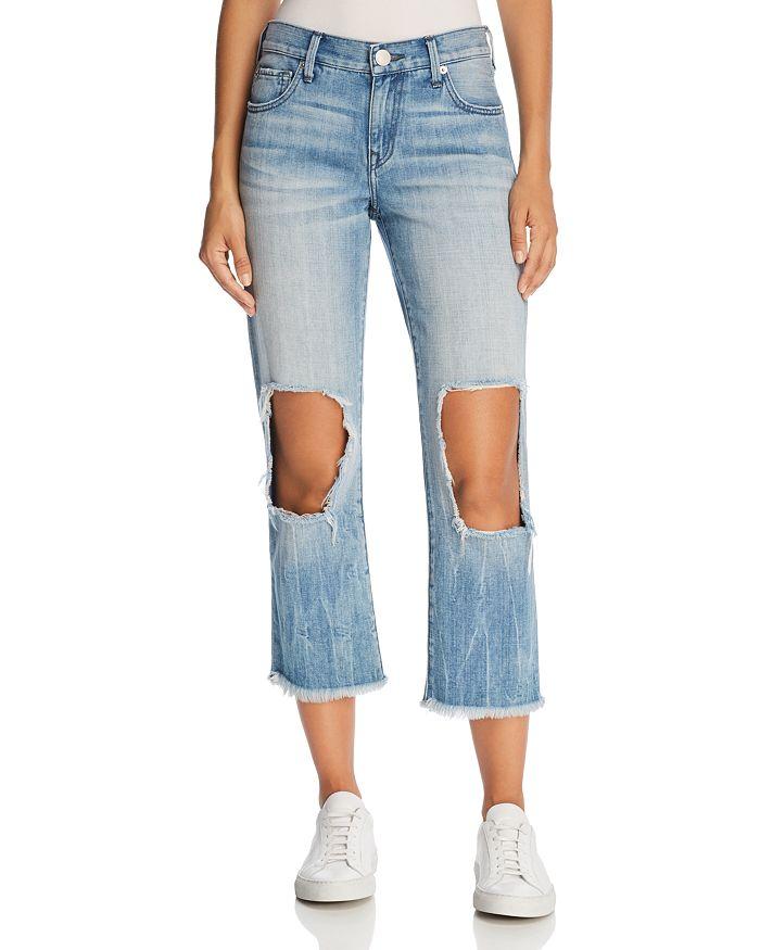 True Religion - Star Crop Straight Jeans in Second Quarter