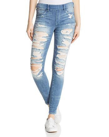 True Religion - Jennie Runway Legging Jeans in Washed Out Destroy
